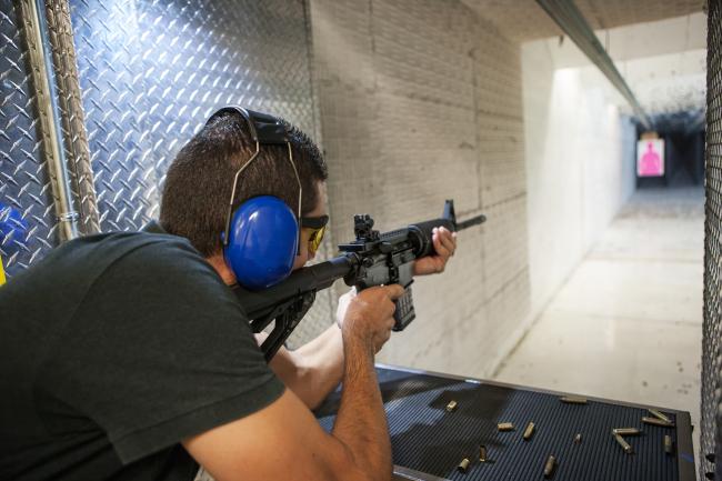 Practice Target Shooting at the Rifle Range